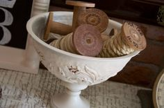 "How to Make DIY ""Vintage"" Wooden Spools 