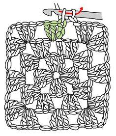 Transcendent Crochet a Solid Granny Square Ideas. Inconceivable Crochet a Solid Granny Square Ideas. Easy Granny Square, Granny Square Häkelanleitung, Granny Square Tutorial, Granny Squares, Granny Granny, Granny Square Crochet Pattern, Crochet Squares, Blanket Crochet, Crochet Cushions