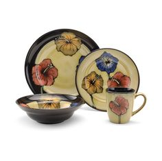 Pfaltzgraff Kayla - Dinnerware Set, 48 Piece, Service for 12