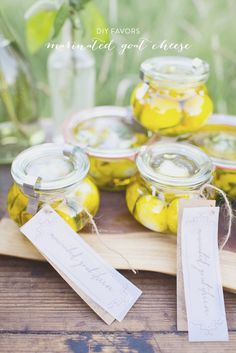 7c0d754f080872 DIY Marinated Goat Cheese Favors from Alisa Lewis Event Design