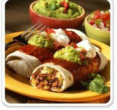Burritos carne y aguacate