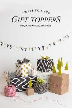 5 gift topper ideas for presents.