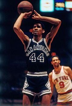 George Gervin of the San Antonio Spurs