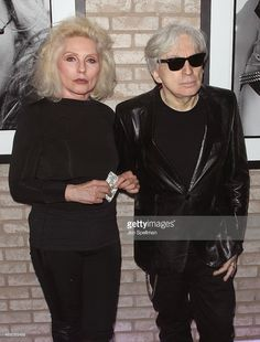 Singer/songwriter Debbie Harry and guitarist/photographer Chris Stein attend the 'Blondie 4(0) Ever' Exhibition Opening at Morrison Hotel Gallery on May 9, 2014 in New York City.
