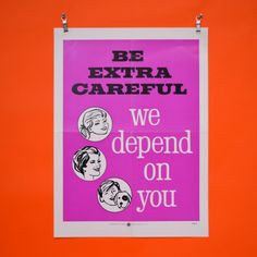 Be Extra #Careful - Health & Safety Poster - Pedlars Friday Vintage - Pedlars #Vintage #healthandsafety