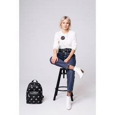 Marc Jacob backpack and his paradise badge