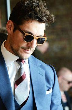 David Gandy--cool shades.
