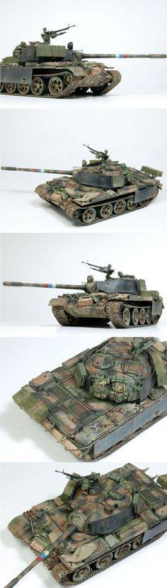 T-55 A 1/72 Scale Model