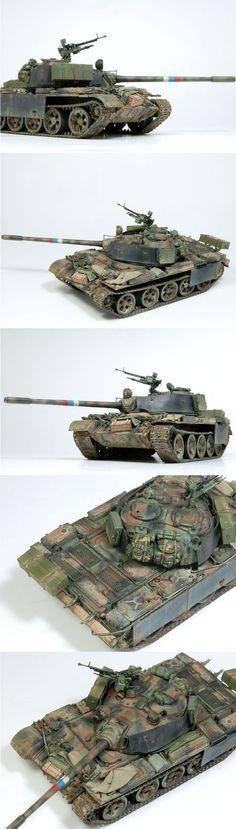 T-55 A 1/72 Scale Model #scale #model #t55 #soviet #tank #smallscale