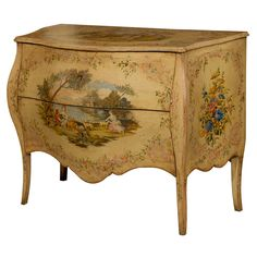 1stdibs - 18th Century Italian Painted Bombe Commode ca. 1770 explore items from 1,700  global dealers at 1stdibs.com
