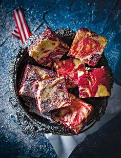 Red velvet brownies / Rooi fluweel-kaaskoekbrownies