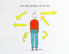 Up to you by Marta Scupelli • www.stripe-me.com English Words, Self Help, Artsy Fartsy, Language, Letters, Artists, My Favorite Things, Denim, Quotes