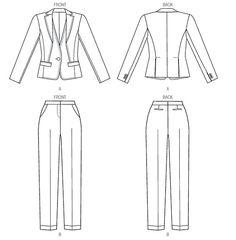 Anne Klein designer Vogue pattern V1388 par VeronicasVenture
