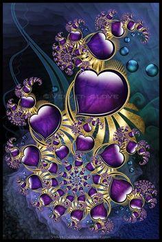 Jewel of Atlantisby Velvet--Glove On Deviant Art Digital Art / Fractal Art / Fractal Velvet--Glove Ultra Fractal - the fractal jewel series continues. Purple Love, All Things Purple, Purple Rain, Shades Of Purple, Purple Hearts, Purple Stuff, Art Fractal, Fractal Images, Fractal Design