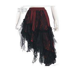 Falda Medio Larga Gótica en la Tienda de Faldas y Pantalones Crazyinlove es | Crazyinlove España