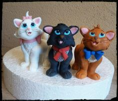 Aristocats kittens - Cake by Petra