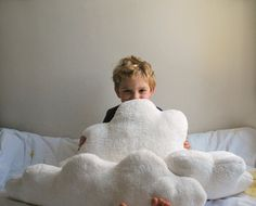 White Fluffy Cloud Pillows  Set of 3 by babycricket on Etsy, $85.00