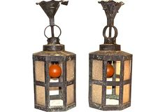 Antique Arts & Crafts Lanterns.