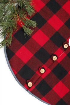 Christmas Tree Skirt Pendleton Buffalo Check Wool