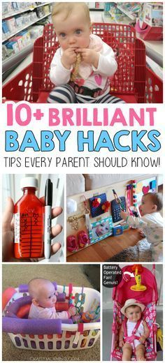 10+ Brilliant Baby Hacks! OMG! I love these! I wish I would have known these with my first!!