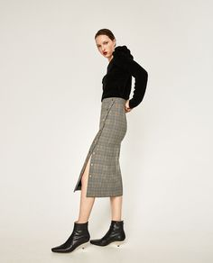Image 1 of TUBE SKIRT WITH SIDE SNAPS from Zara