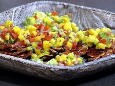 Grilled Soft-shell Crabs with a Mango Avocado Salsa Recipe : Emeril Lagasse : Food Network - FoodNetwork.com