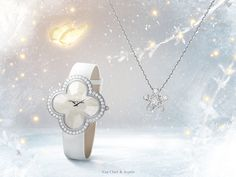 Diamonds and white gold glitter in harmony, illuminating the silhouette in a subtle symphony. Discover Van Cleef & Arpels winter selection #WinterSelection #HolidaySeason http://goo.gl/Z671w7