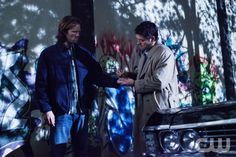"""Supernatural -- """"Torn and Frayed"""" -- Pictured (L-R): Jared Padalecki as Sam and Misha Collins as Castiel -- Credit: Liane Hentscher/The CW --  © 2013 The CW Network. All Rights Reserved"""