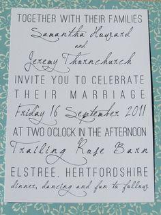 modern urban wedding invitation suite by amelia lane paper: love this!