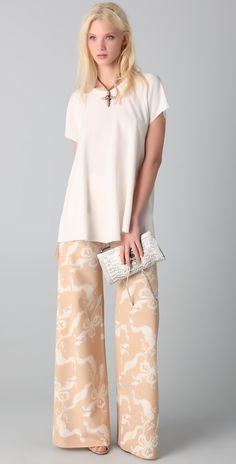 Ellen Hazan Wide Leg Pants