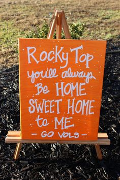 Rocky Top - Tennessee Vols - Canvas Art on Etsy, $20.00