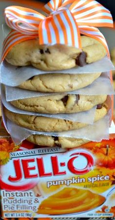 Pumpkin Spice, Chocolate Chip Pudding Cookies Recipe ~ These cookies are AMAZING -- with just the right subtle hint of pumpkin spice