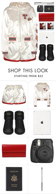 """""""SATIN"""" by dianakhuzatyan ❤ liked on Polyvore featuring Tommy Hilfiger, Yves Saint Laurent, Lodis, Fujifilm, Royce Leather, Urban Decay, polyvoreeditorial and polyvoreset"""