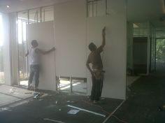 Instalación de muros de Tablarroca #oficinaAspel