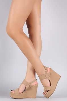 62bcbeeded35 This marvelous wedge features an open toe silhouette