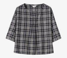 Navy White Check Top | TOAST