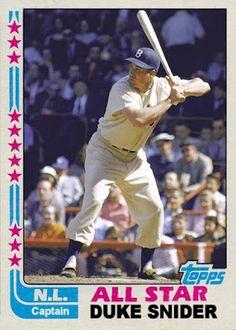1981 Topps Duke Snider, Brooklyn Dodgers, Cards That Never Were: 1982 All Star Game Honorary Captains: Duke Snider & Yogi Berra