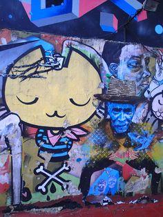 Terraza en el bar de graffitimundo