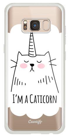 Casetify Galaxy S8 Classic Snap Case - I'm a Caticorn - Cat - Unicorn by Happy Cat Prints