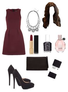 Untitled #249 by aris-mjc on Polyvore featuring moda, Topshop, H&M, Zara, BaubleBar, Chanel, Viktor & Rolf, Essie and Calder