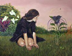 La flor del diablo- Andrea Barreda pintura al oleo