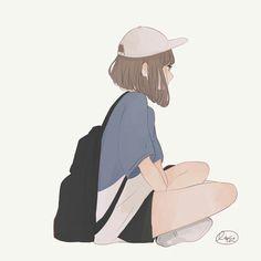 Design Character Face Anime 55 Ideas For 2019 Kawaii Anime Girl, Anime Art Girl, Manga Art, Cartoon Kunst, Cartoon Art, Aesthetic Anime, Aesthetic Art, Character Illustration, Illustration Art