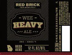 Cerveja Red Brick Wee Heavy Ale, estilo Scottish, produzida por Red Brick Brewing, Estados Unidos. 6.5% ABV de álcool.