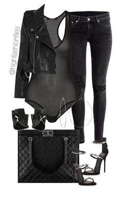"""""""Mood"""" by highfashionfiles on Polyvore featuring H&M, Isabel Marant, Giuseppe Zanotti, Chanel, Vetements and Phyllis + Rosie"""