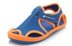 ALPINE PRO Dětské sandály Punita - oranžovo-modré