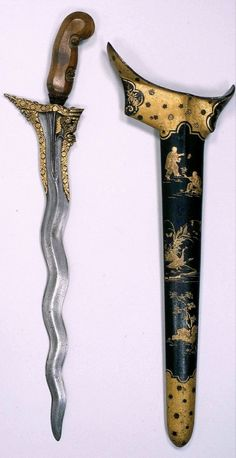 Ethnographic Arms & Armour - Sunggingans Swords And Daggers, Knives And Swords, Martial Arts Weapons, Indonesian Art, Javanese, Cool Knives, Arm Armor, Vietnam, Couple Art