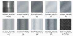 Gamedev - 10 Metal Textures - CC0 License