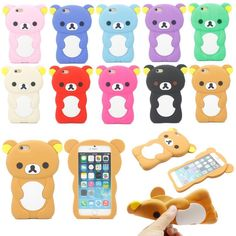 Cute 3D Cartoon Animal Bear Silicone Soft Back Case Cover For iPhone 6 4.7""