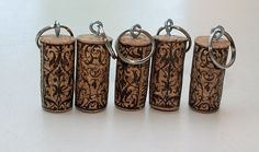 Recycled Wine Cork Keychains  5  beautiful design by TheWoodenBee