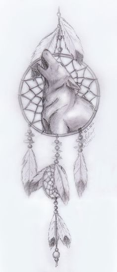 Howling Wolf -dreamcatcher by Frostdanger on deviantART